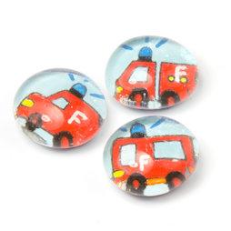 LIV-118/fire, Rettungsfahrzeuge, handgemachte Kühlschrankmagnete, 3er-Set, Feuerwehr