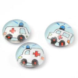 LIV-118/ambu, Rettungsfahrzeuge, handgemachte Kühlschrankmagnete, 3er-Set, Ambulanz
