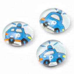LIV-118/police, Rettungsfahrzeuge, handgemachte Kühlschrankmagnete, 3er-Set, Polizei