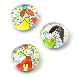 LIV-119/angel, Glücksbringer, handgemachte Kühlschrankmagnete, 3er-Set, Engel