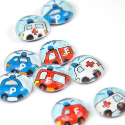 LIV-118, Rettungsfahrzeuge, Handgemachte Kühlschrankmagnete, 3er Set