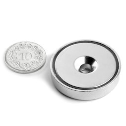 CSN-32, Countersunk pot magnet, Ø 32 mm, strength approx. 30 kg