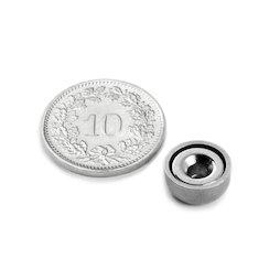 CSN-10, Potmagneet met verzonken gat, Ø 10 mm, houdkracht ca. 1.3 kg