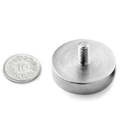 GTN-32, Pot magnet with threaded stem Ø 32 mm, thread M6, strength approx. 39 kg