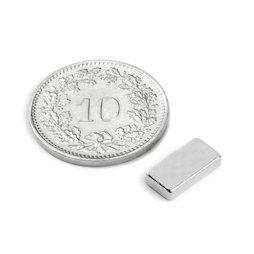Q-10-05-02-N, Blokmagneet 10 x 5 x 2 mm, neodymium, N50, vernikkeld