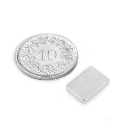Q-12-08-02-N, Quadermagnet 12 x 8 x 2 mm, Neodym, N50, vernickelt