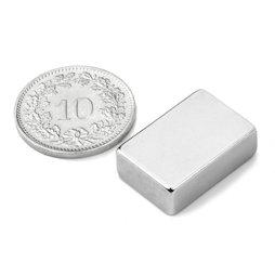 Q-19-13-06-N, Quadermagnet 19.05 x 12.7 x 6.35 mm, Neodym, N42, vernickelt