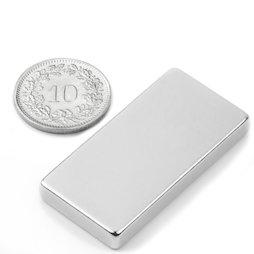 Q-40-20-05-N, Parallelepipedo magnetico 40 x 20 x 5 mm, neodimio, N42, nichelato