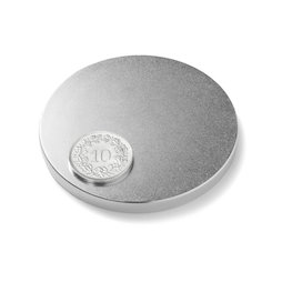 S-60-05-N, Disc magnet Ø 60 mm, height 5 mm, neodymium, N42, nickel-plated