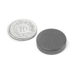 S-20-05-T, Schijfmagneet Ø 20 mm, hoogte 5 mm, neodymium, N42, met Teflon coating