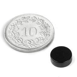 S-08-03-E, Disque magnétique Ø 8 mm, hauteur 3 mm, néodyme, N45, revêtement époxy