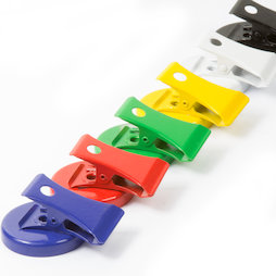 LIV-122, Colourful magnet clips, made of ferrite, set of 6