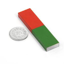EDU-7, Barra corta, 60 x 15 mm, in AlNiCo5, smaltato in rosso e verde
