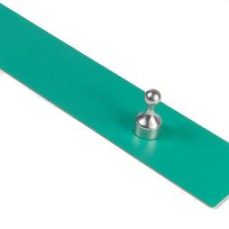 MB-18/green, Magneetlijst zelfklevend 50 cm, zelfklevende hechtondergrond voor magneten, van metaal, groen