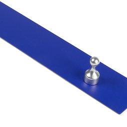 MB-18/blue, Magneetstrip zelfklevend blauw 50 cm, zelfklevende hechtondergrond voor magneten, van metaal