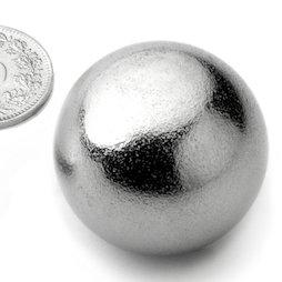 K-30-C, Kogelmagneet Ø 30 mm, neodymium, N40, verchroomd