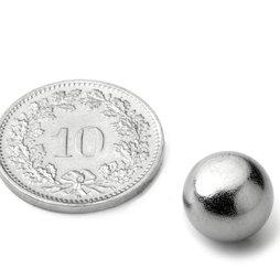 K-10-C, Kogelmagneet Ø 10 mm, neodymium, N40, verchroomd