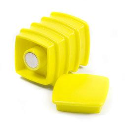 BX-SQ30-BULK/yellow, Boston Xtra viereckig 25 Stück, Grosspackung mit 25 Büromagneten Neodym