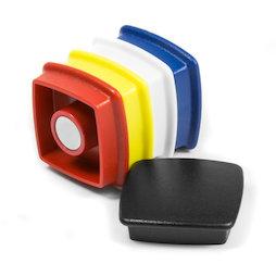 BX-SQ30/mixed, Boston Xtra viereckig, Set mit 5 Büromagneten Neodym, viereckig, assortiert