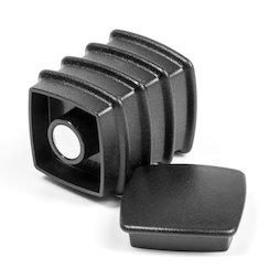 BX-SQ30/black, Boston Xtra viereckig, Set mit 5 Büromagneten Neodym, viereckig, schwarz