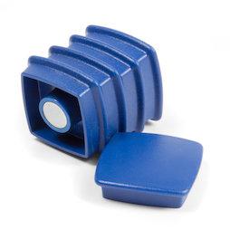 BX-SQ30/blue, Boston Xtra viereckig, Set mit 5 Büromagneten Neodym, viereckig, blau