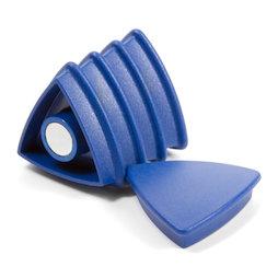 BX-TR30/blue, Boston Xtra dreieckig, Set mit 5 Büromagneten Neodym, dreieckig, blau