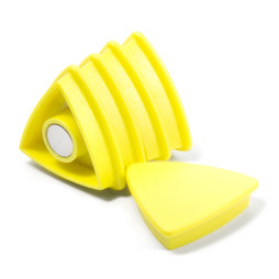 BX-TR30/yellow, Boston Xtra triangular, set of 5 office magnets neodymium, triangular, yellow