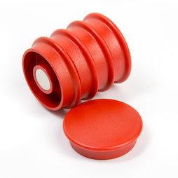 BX-RD30-BULK/red, Boston Xtra rond 25 stuks, bulkverpakking met 25 kantoormagneten neodymium