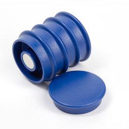 BX-RD30/blue, Boston Xtra rund, Set mit 5 Büromagneten Neodym, rund, blau