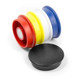 BX-RD30/mixed, Boston Xtra rund, Set mit 5 Büromagneten Neodym, rund, assortiert