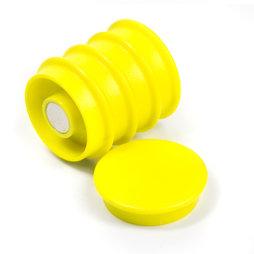 BX-RD30/yellow, Boston Xtra rund, Set mit 5 Büromagneten Neodym, rund, gelb