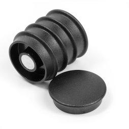 BX-RD30/black, Boston Xtra rond, set met 5 kantoormagneten neodymium, rond, zwart