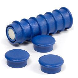 BX-RD20/blue, Boston Xtra Mini rond, set de 10 aimants de bureau en néodyme, bleu