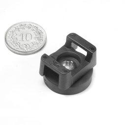 CMN-22, magnete gommato con base in acciaio, per cablaggio, Ø 22 mm