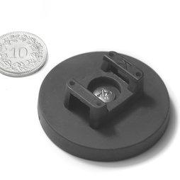 CMN-43, aimant en pot caoutchouté, pour montage de câbles, Ø 43 mm