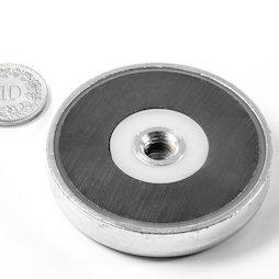 ITF-50, Potmagneet ferriet met inwendig schroefdraad M8, Ø 50 mm