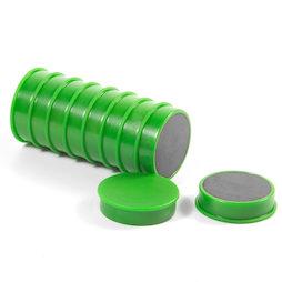 M-OF-RD30/green, Tafelmagnete aus Ferrit, plastifiziert, 10er-Set, grün