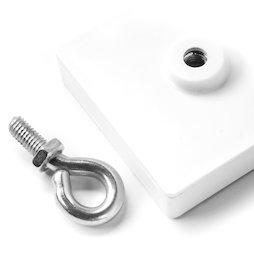 leistenmagnet quadratisch deckenmagnet weiss mit se geh use supermagnete. Black Bedroom Furniture Sets. Home Design Ideas