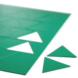 BA-014TR/green, Magnetsymbole Dreieck gross, für Whiteboards & Planungstafeln, 25 Symbole pro A4-Bogen, grün