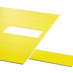 BA-014RE/yellow, Magnetische symbolen rechthoek groot, voor whiteboards & planborden, 10 symbolen per A4-blad, geel