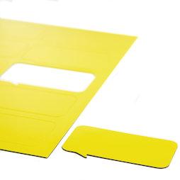 BA-014BR/yellow, Magnetsymbole Sprechblase rechteckig, für Whiteboards & Planungstafeln, 10 Symbole pro A4-Bogen, gelb
