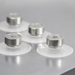 M-SN-05, Magnete a ventosa Ø 40 mm superpotente, con magnete con base in acciaio con filettatura interna Ø 20 mm