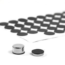 M-SIL-15, Discos de silicona Ø 15 mm, adhesivo, 60 unidades por set