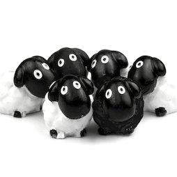 LIV-52, Sheep, deco magnets shaped as sheeps, set of 6