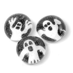 LIV-129/ghost, Halloween, handgemachte Kühlschrankmagnete, 3er-Set, Gespenst