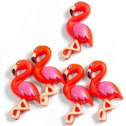 LIV-130, Flamingo, decomagneten in flamingo-vorm, set van 5