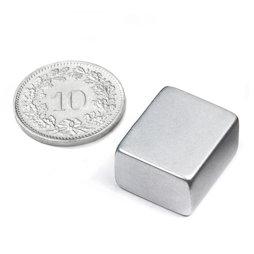 Q-18-15-10-Z, Blokmagneet 18 x 15 x 10 mm, neodymium, N45, verzinkt