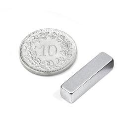 Q-20-05-05-Z, Blokmagneet 20 x 5 x 5 mm, neodymium, N42, verzinkt