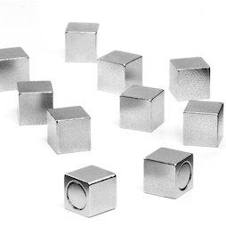 M-OF-W08, Magneti da ufficio con custodia in metallo, magneti al neodimio, lunghezza del bordo 8 mm
