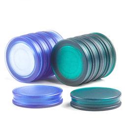 M-OF-BRD25, Imanes de pizarra redondos, imanes de neodimio con tapa de plástico, adhesión por ambas caras